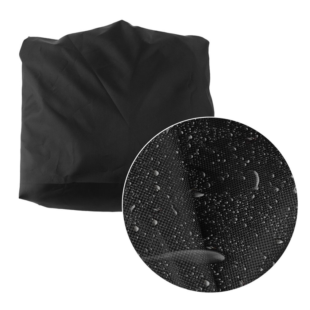 Larger Size Outdoor Beach Chair Case 420D Oxford Polyester Black Chair Cover