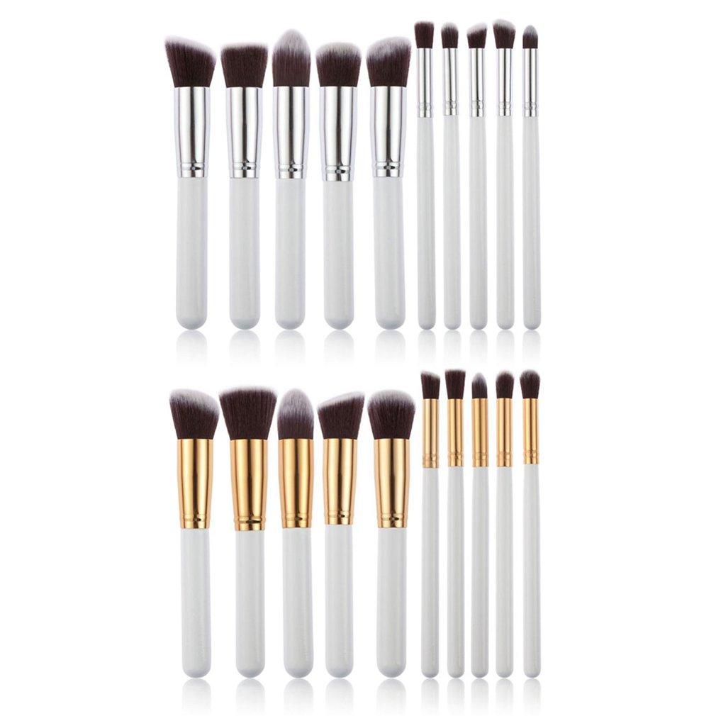 10Pcs/Set Makeup Brushes Cosmetic Kit Eyeshadow Powder Foundation Lip Brush