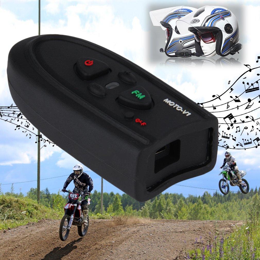 Outdoor V1-10M Bluetooth Motorbike Hiking Helmet Interphone Intercom Headset