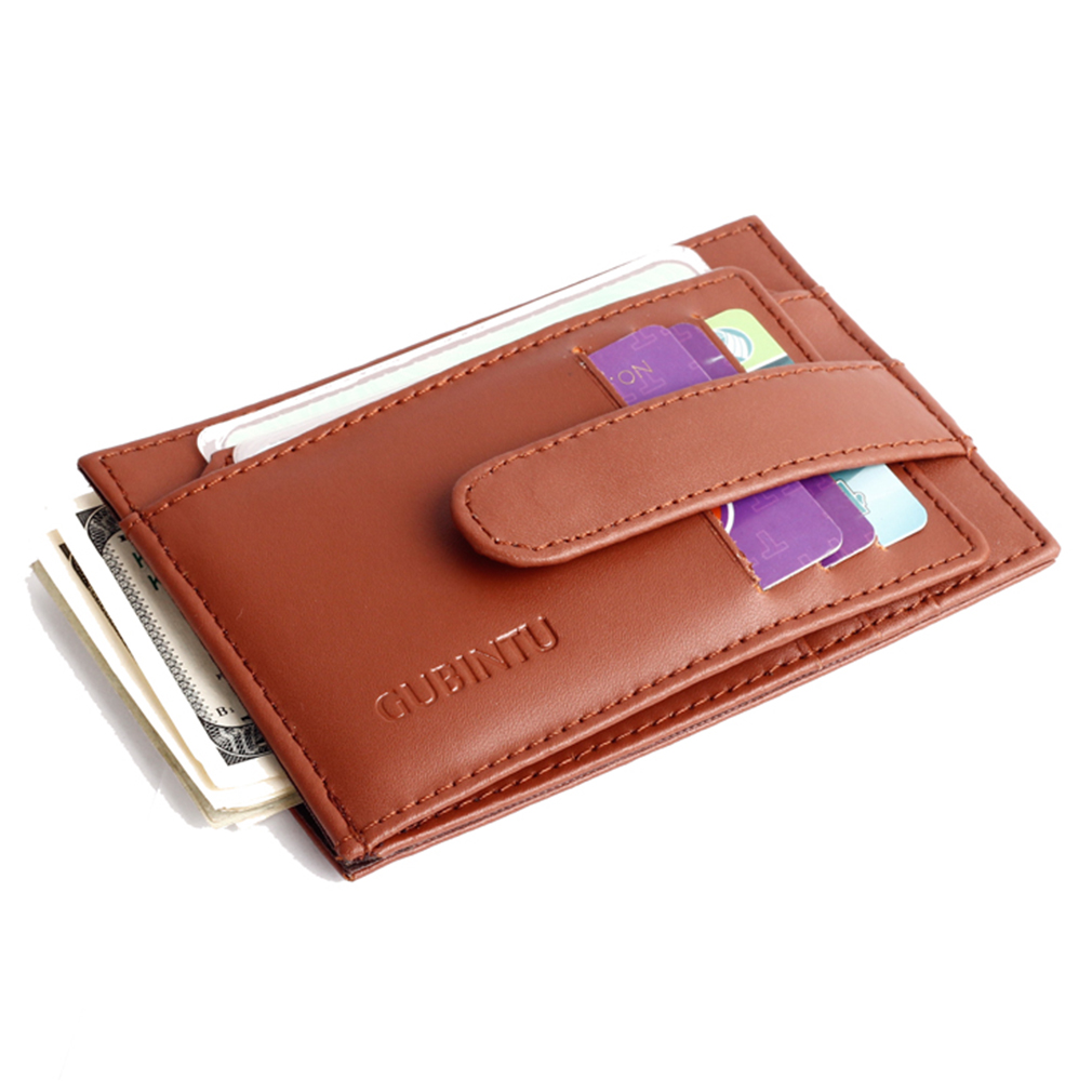 Genuine Leather Unisex Wallet Fashion Coin Pocket Purse Credit Card ID Holder