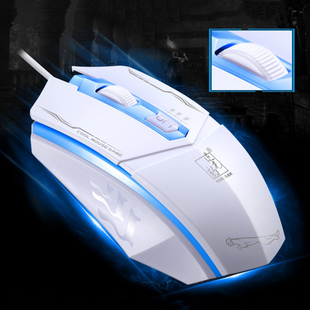 199 3 Buttons 1600 Dpi 4D Wired Game Mouse High-End Desktop Notebook Mouse