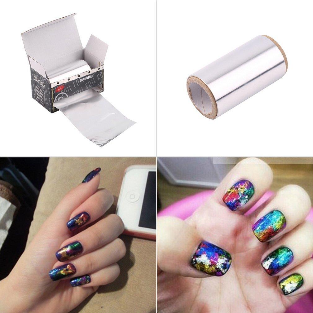 1 Roll Foil Nail Art Transfer Craft Fashion DIY Nail Sticker Tip Decoration