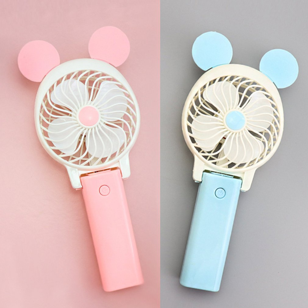 Foldable Hand Fan USB Rechargeable Handheld Mini Fan Cooler with Strap