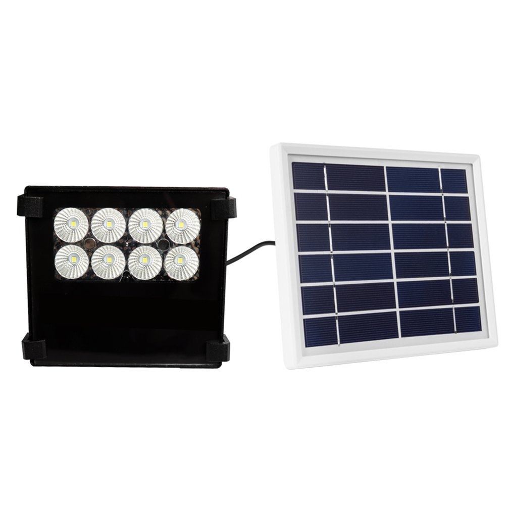 Solar Courtyard Wall Lamp 10W 8 LED Highlight Landscape Spotlight With Remote