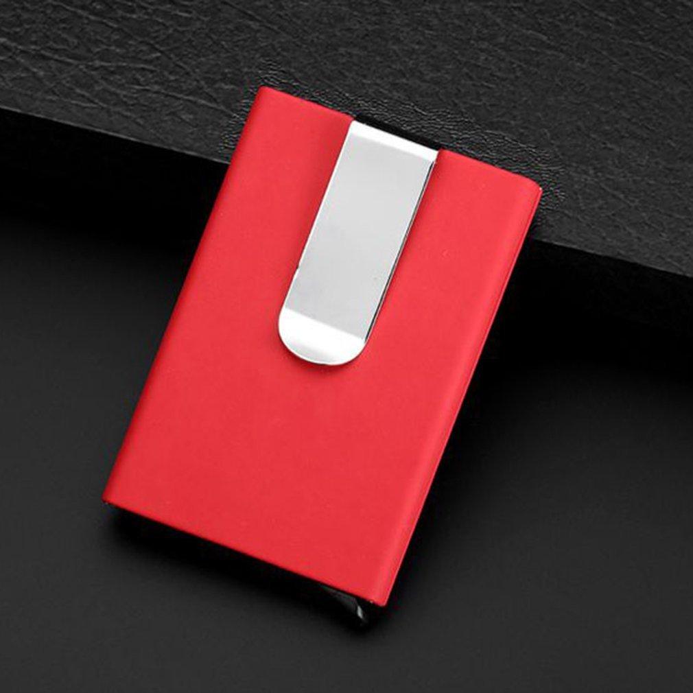 Lightweight Portable Man Woman Anti-Magnetic Aluminium Alloy Bank Card Credit Card Box Case Business Card Holder
