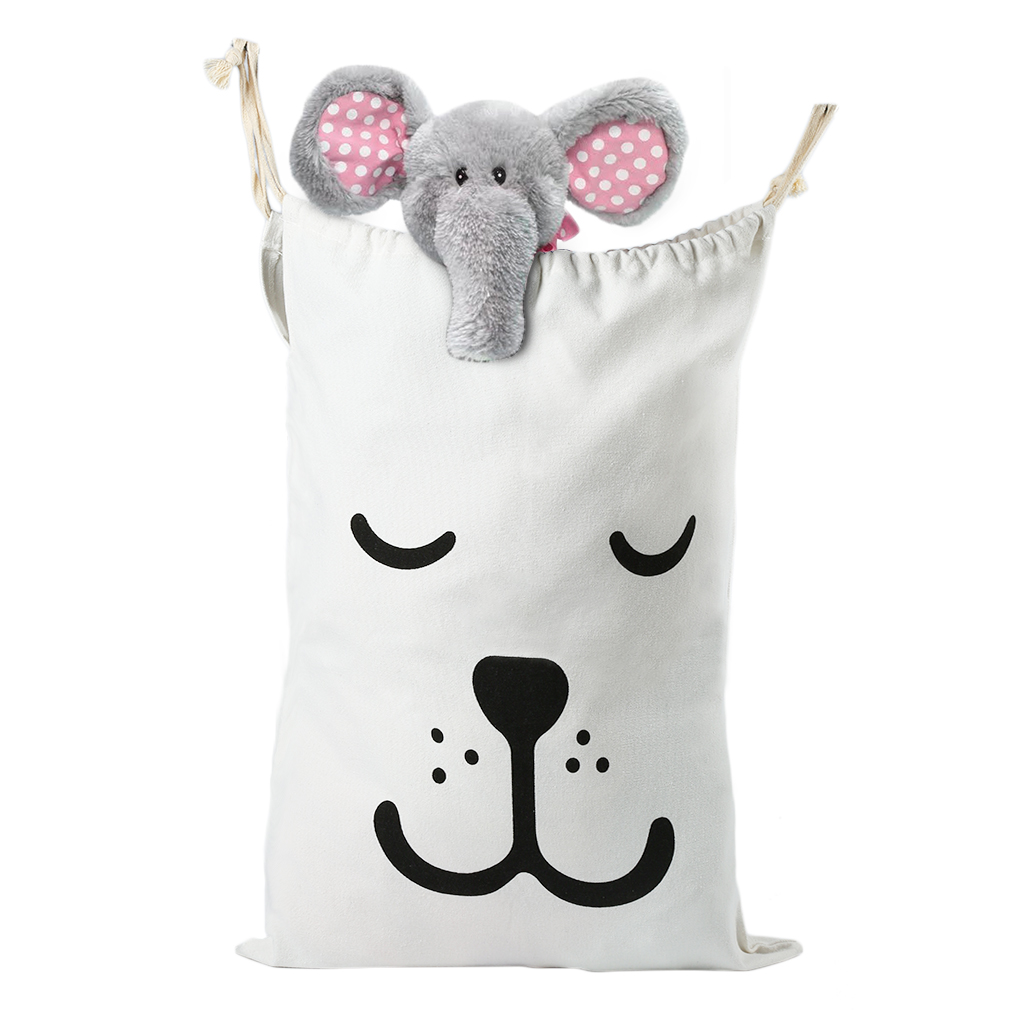 Large Cartoon Babies Toy Storage Bag Home Canvas Bags Bear Pattern Laundry Bag