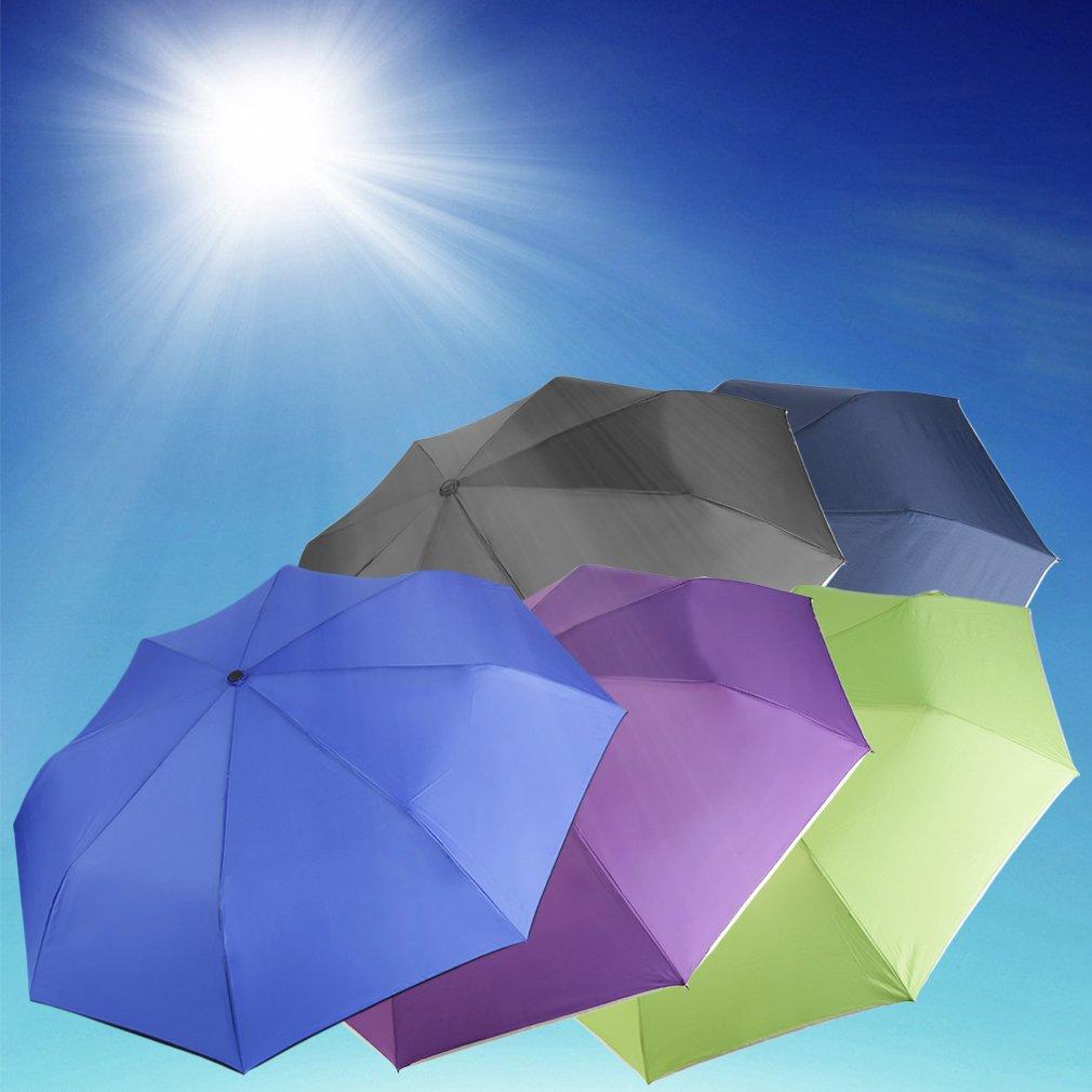 Fashion Simple 3-Folding Anti-UV Sun/Rain Protection Umbrella Unisex Gift