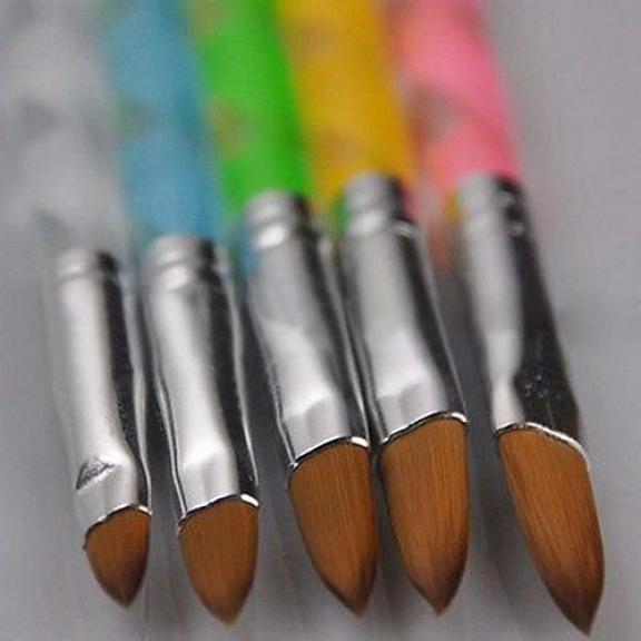 5Pcs Acrylic Design 3D Painting Drawing UV Gel DIY Brush Pen Tool Nail Art Set
