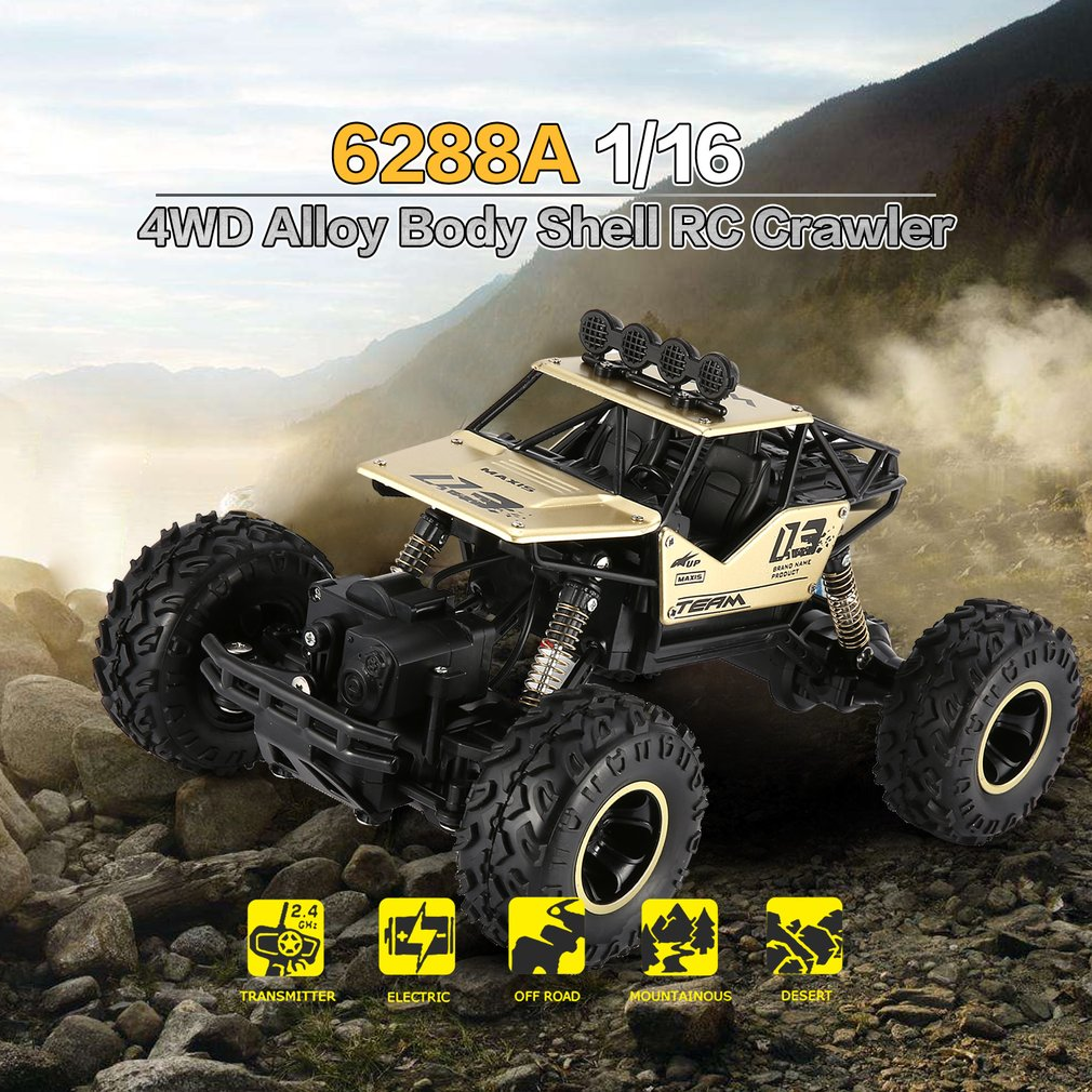 1/16 2.4G Alloy Body Shell Crawler 4WD Double Motors RC Off-road Buggy Car RTR