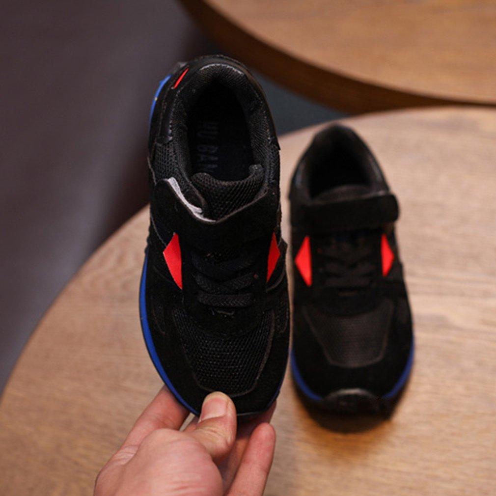 Casual Hook & Loop Anti-slip Breathable Patchwork Sports Shoes Kids Unisex