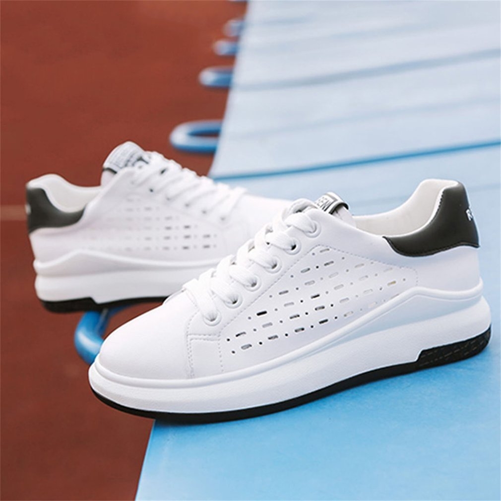 Renben Summer Women Walking Shoes Breathable Stitching Color Thick Soles Shoes