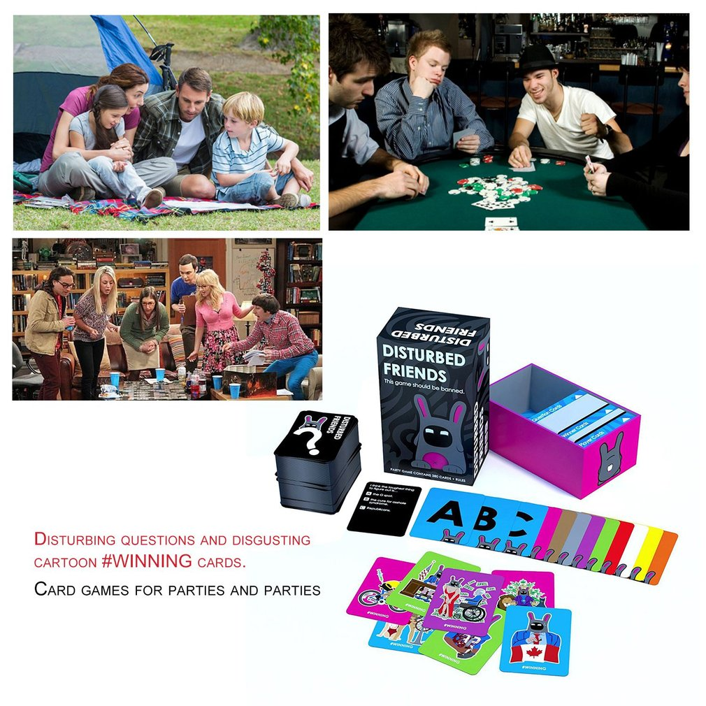 Disturbed Friends Popular Desktop Game Board Game Funny Interesting Card Game Play Cards For Entertainment Party Game