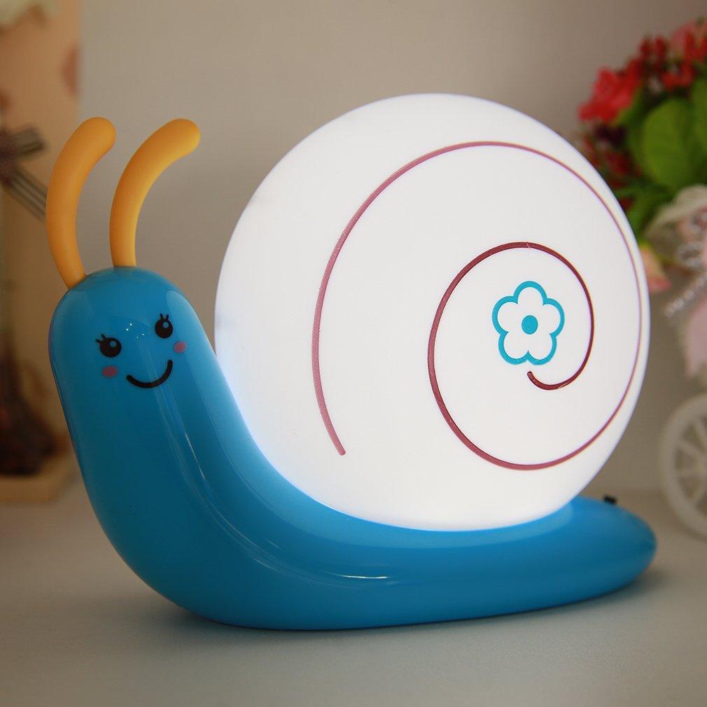 Energy Efficient LED Protect Eye Desk Lamp USB Charge Snail shape Light