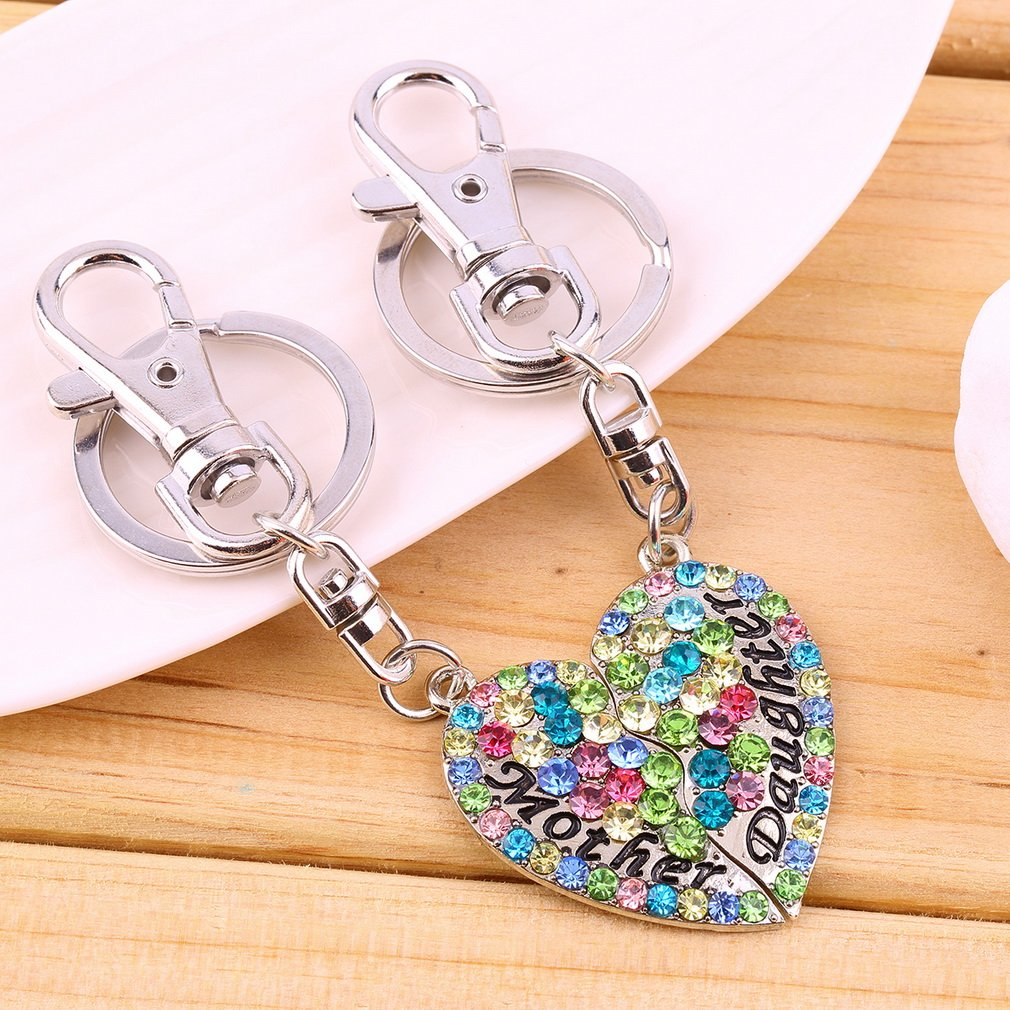 Mother- Daughter Heart Key Chain For Mother's Day