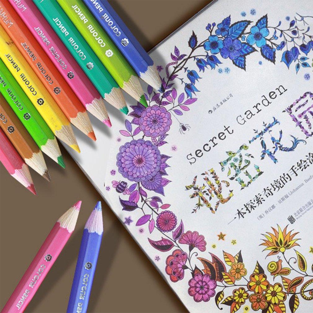 Mini 36 Colors Secret Garden Pencils Painting Color Pencils School Supplies