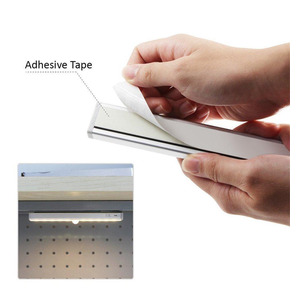 10LED Energy Saving USB Charging IR Infrared Motion Cabinet Wardrobe Lamp