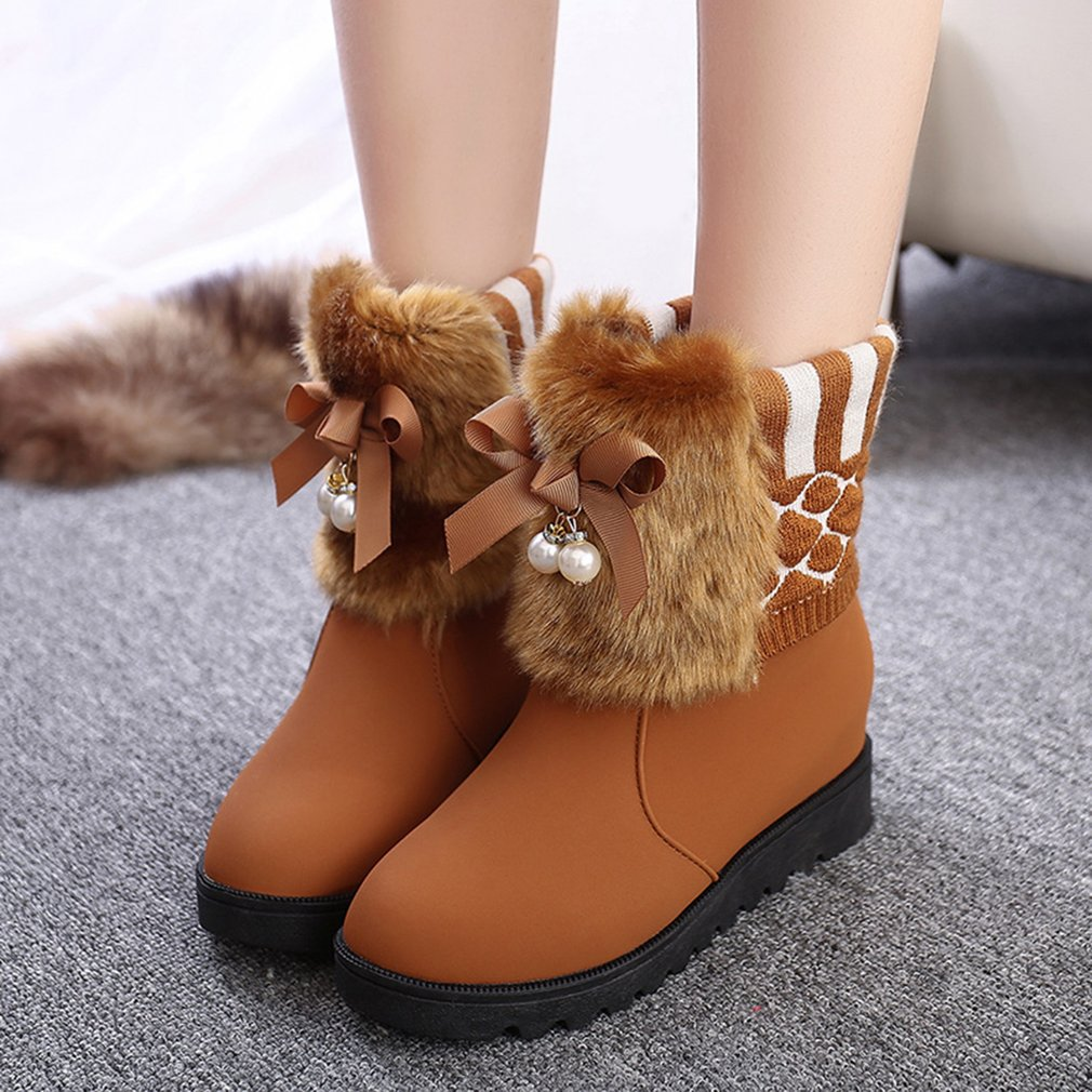 Flat Lace-up Ankle Boots Winter Comfortable Cotton Boots Popular Female Boots