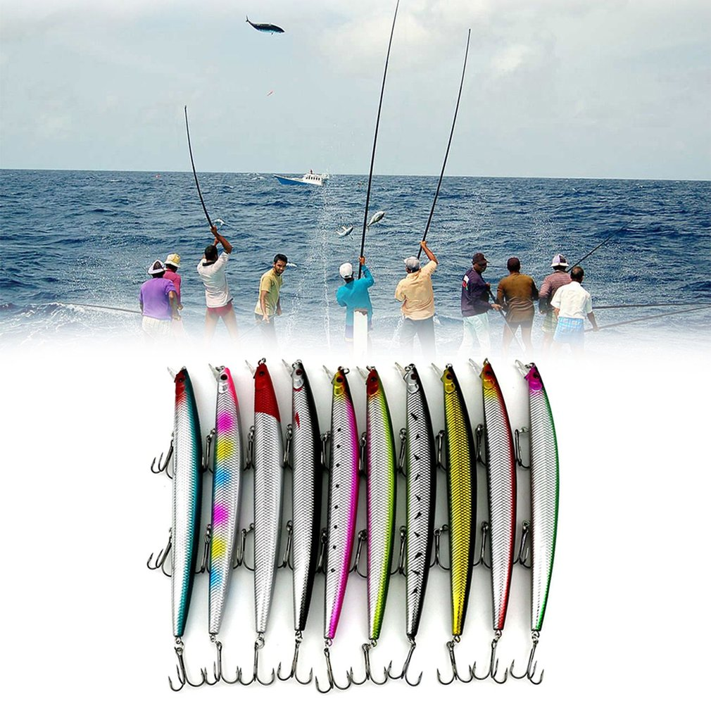 HENG JIA Long Shot Ocean Fishing Lures Bionic False Hard Minnow Fishing Baits