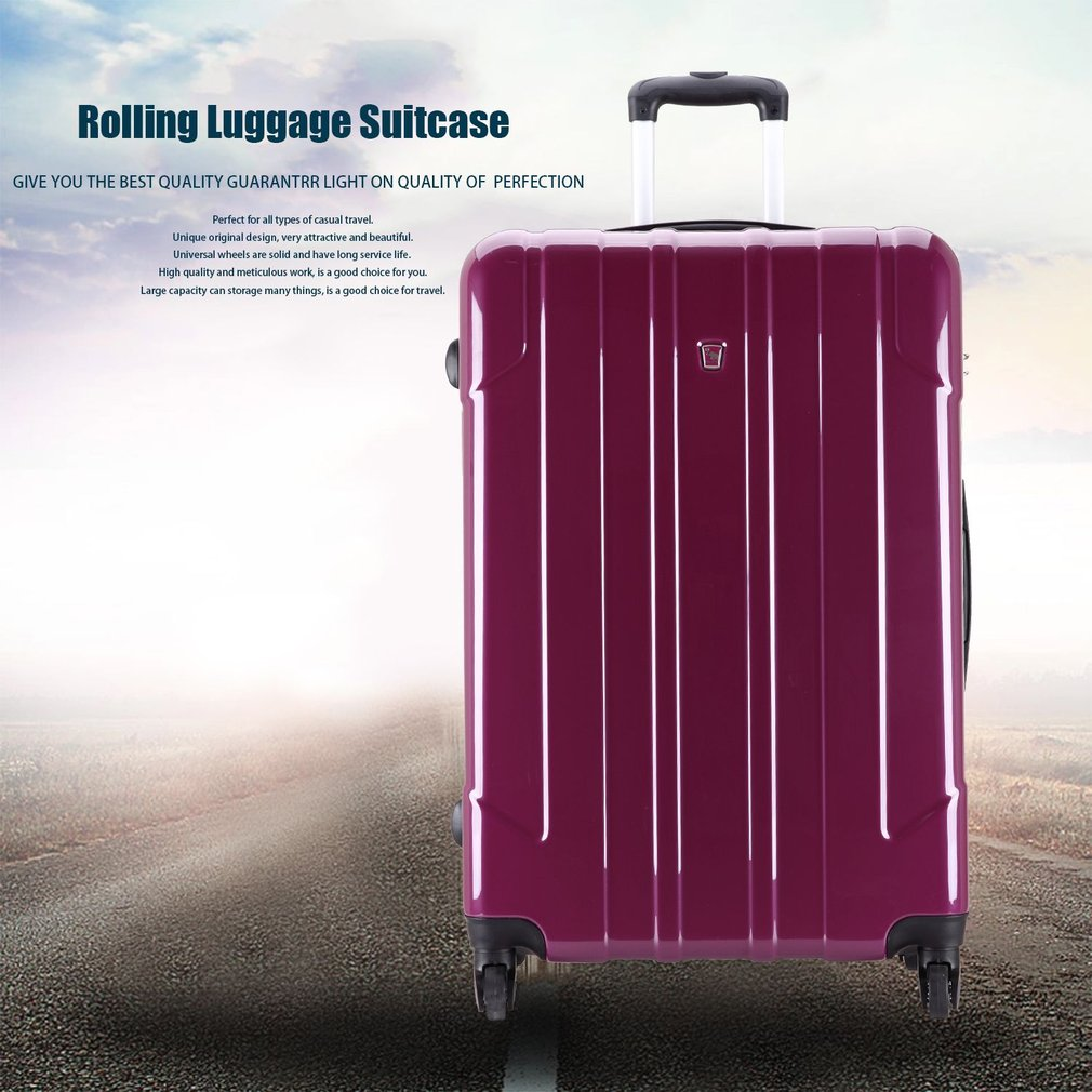 OIWAS OCX6075-28 Rose Red 28 inch Rolling Luggage Case Travel Suitcase