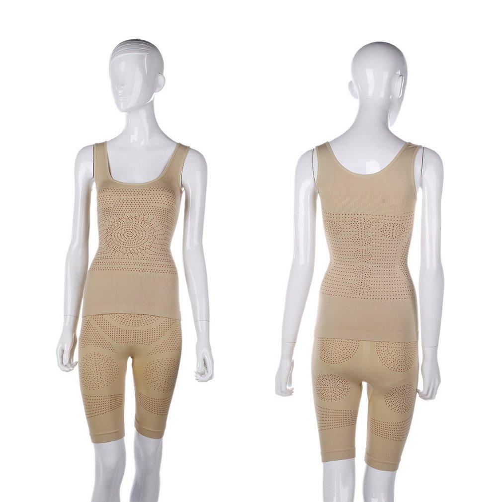 Women's Far Infrared Heat Shapewear Shaper Underwear Slimming Vest Shorts Set