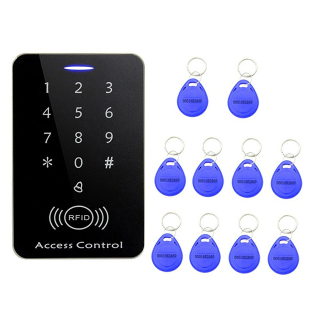 RFID Access Control System Security Entry Door Lock + 10PCS Keychains for Home