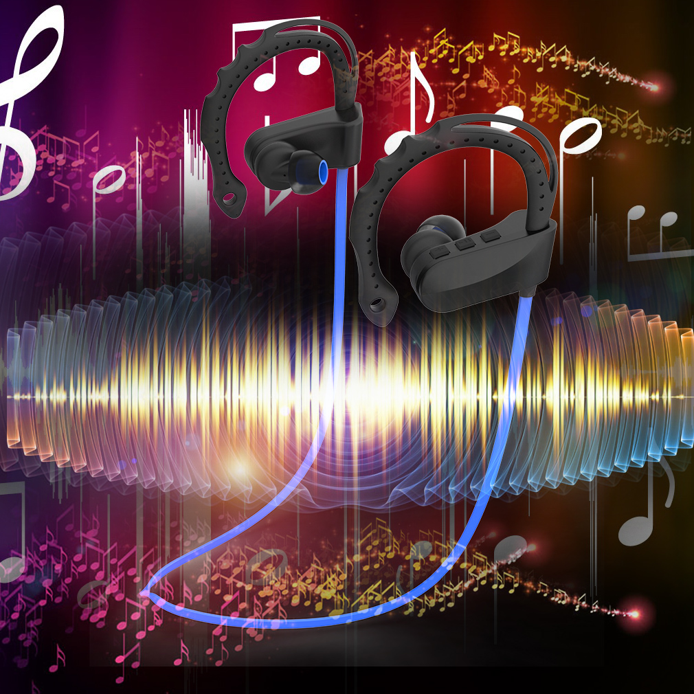 Special Design Q12 Ear Hanging Ear Hypotenuse Side Music Bluetooth Headset
