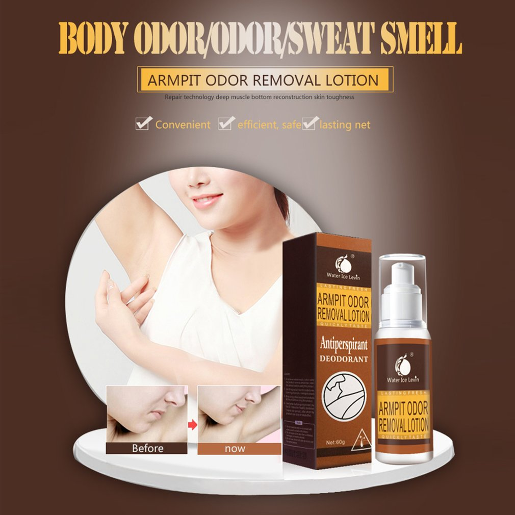 60G Good Smell Antiperspirant Cleaner Deodorant Armpit Odor Spray Lotion