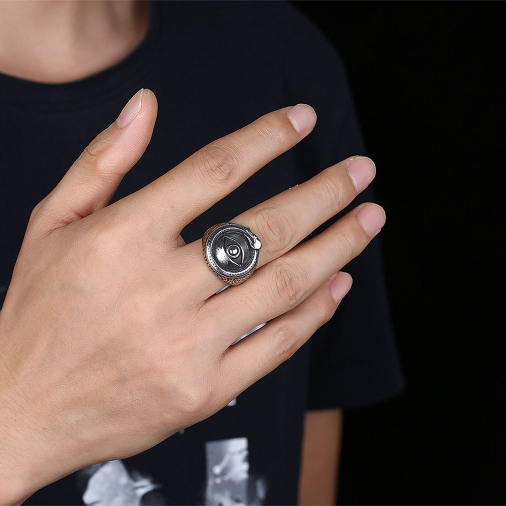 Eye Shape Punk Trendy Wedding Finger Ring Man Party Ring Bridegroom Jewelry