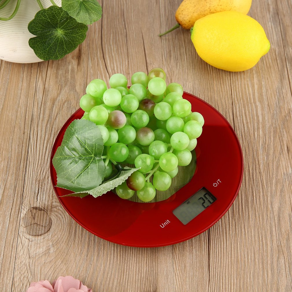 Ultra-thin Electronic Kitchen Scale 5000g*1g Precise Scale with Touch Button