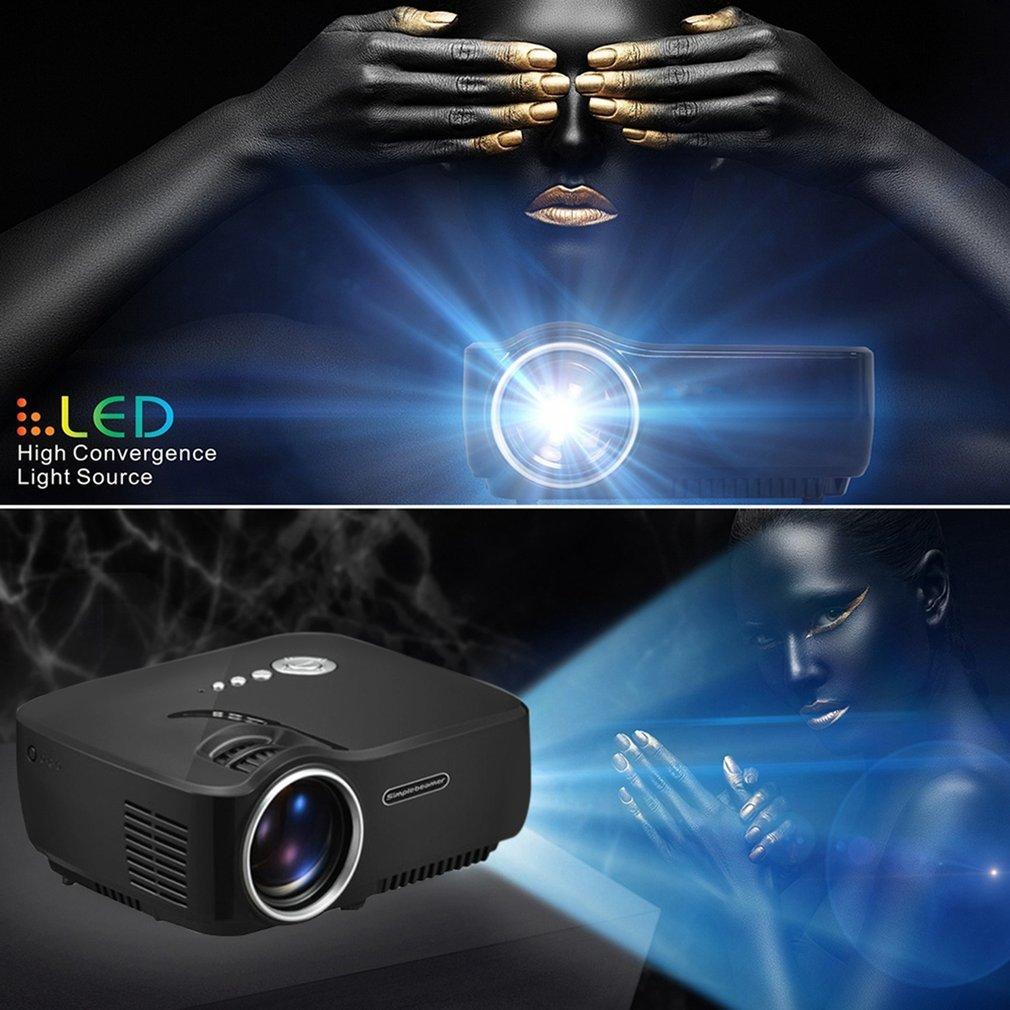 GP70 Full HD 1080P Mini LED Projector Support HDMI USB VGA Security Digital