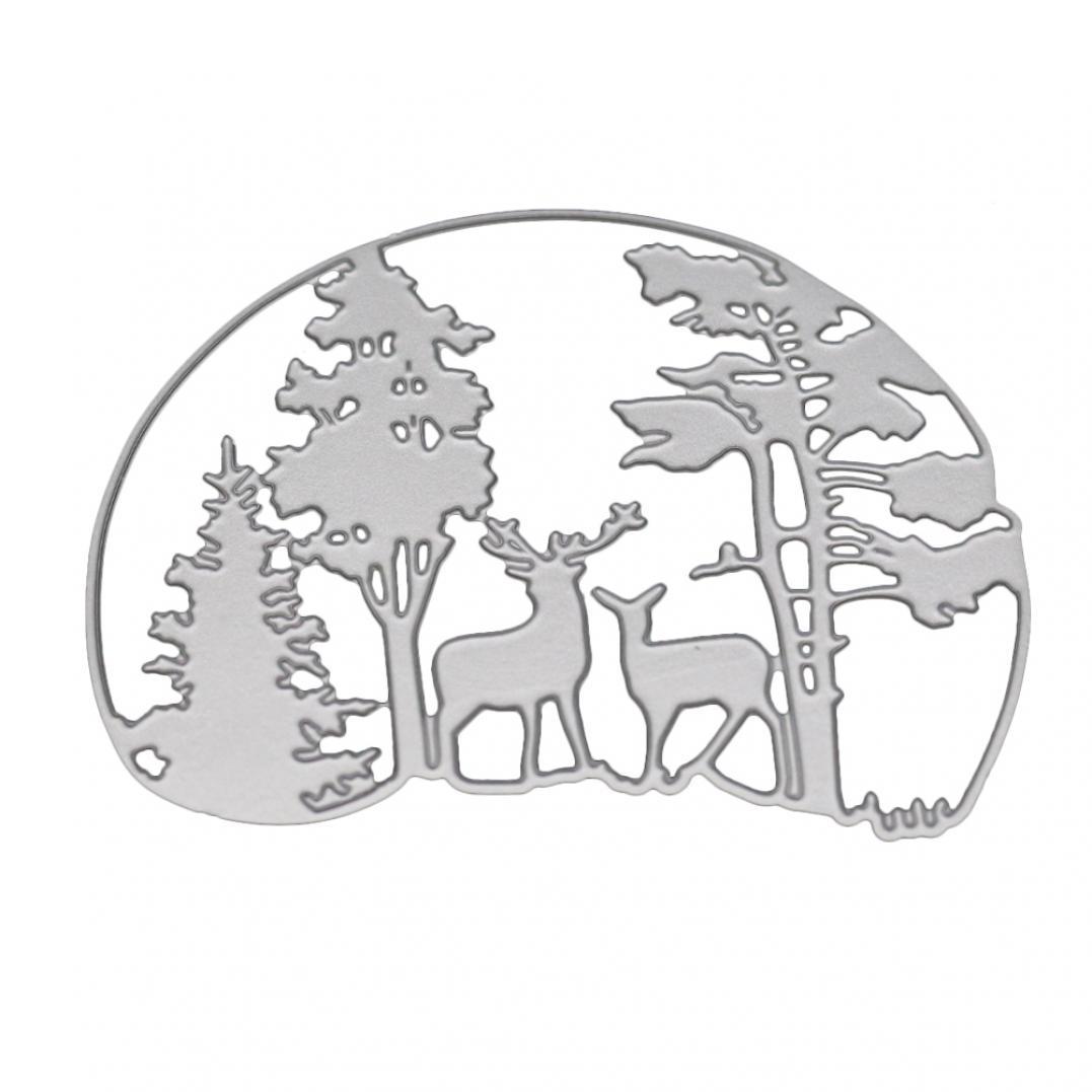 Forest Deer Metal Cutting Dies DIY Scrapbook Embossing Paper Cards Punch Stencil