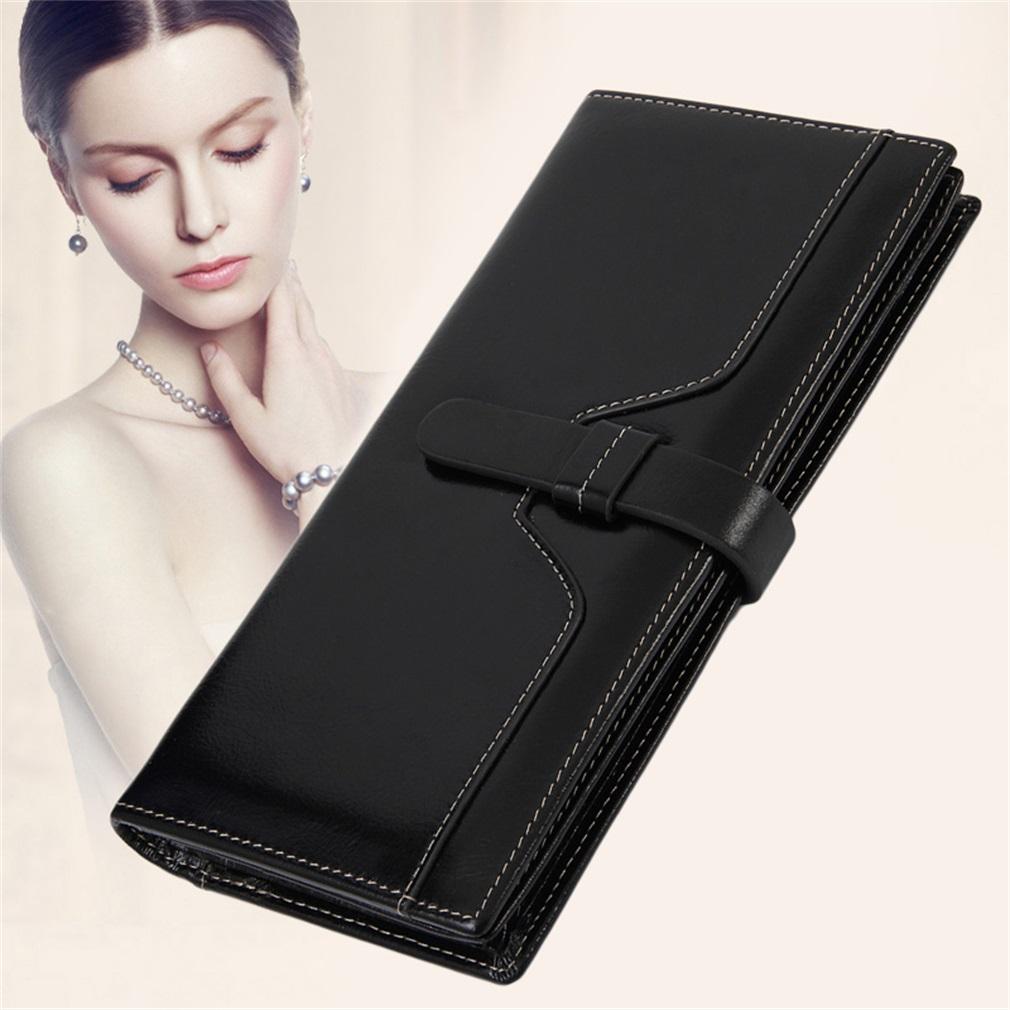Korean Design Two Fold Wallet Oil Cover Surface Comfortable Touch Clutch Handbag