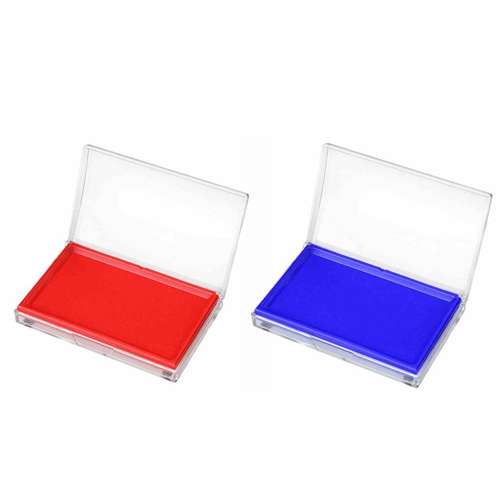 DELI 9864 Red/Blue Ink Stamps Pad School Home Office Quick Drying Waterproof