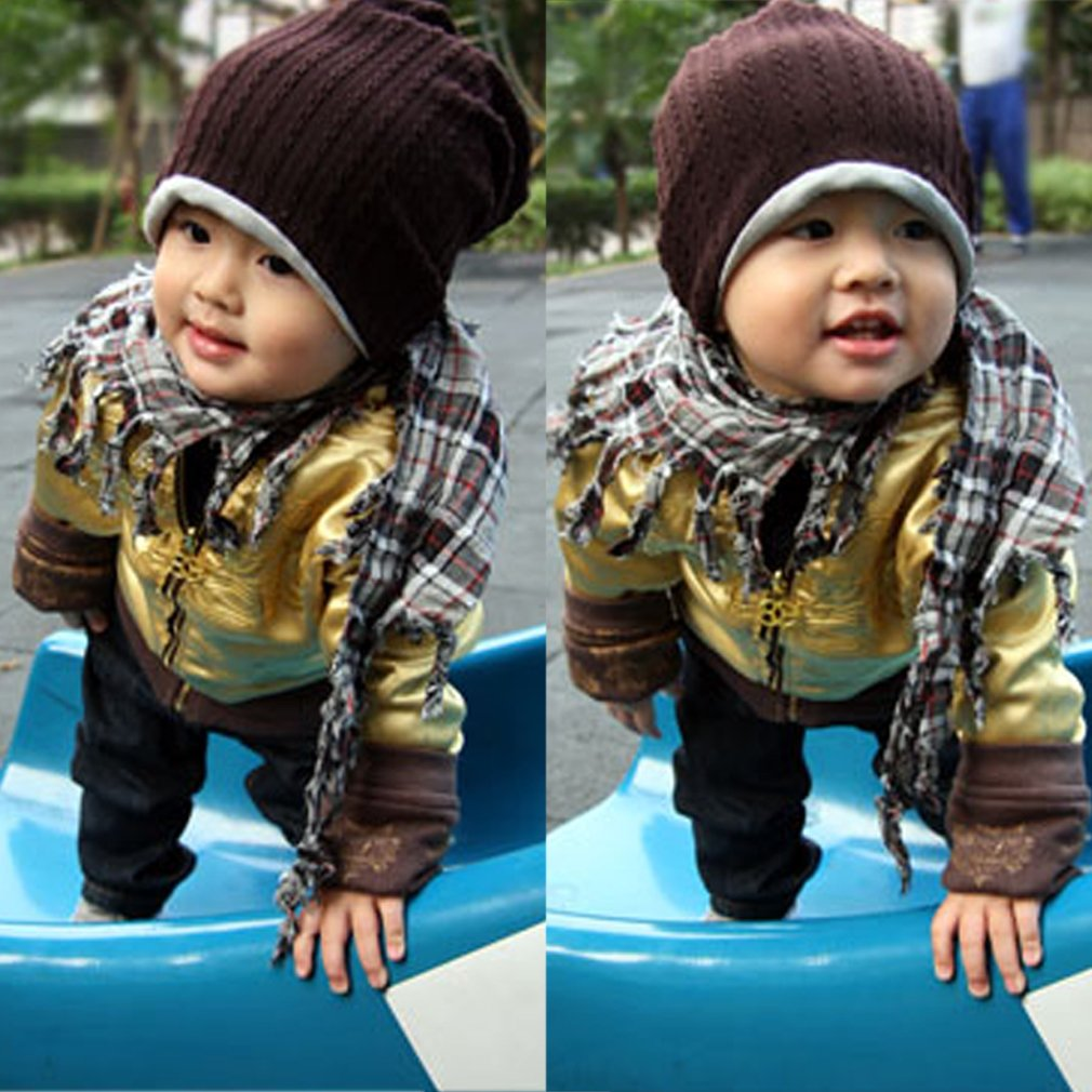Fashion Boy Girl Trendy Baby Toddler Child Hat Knit Beanie Warm Winter Cap