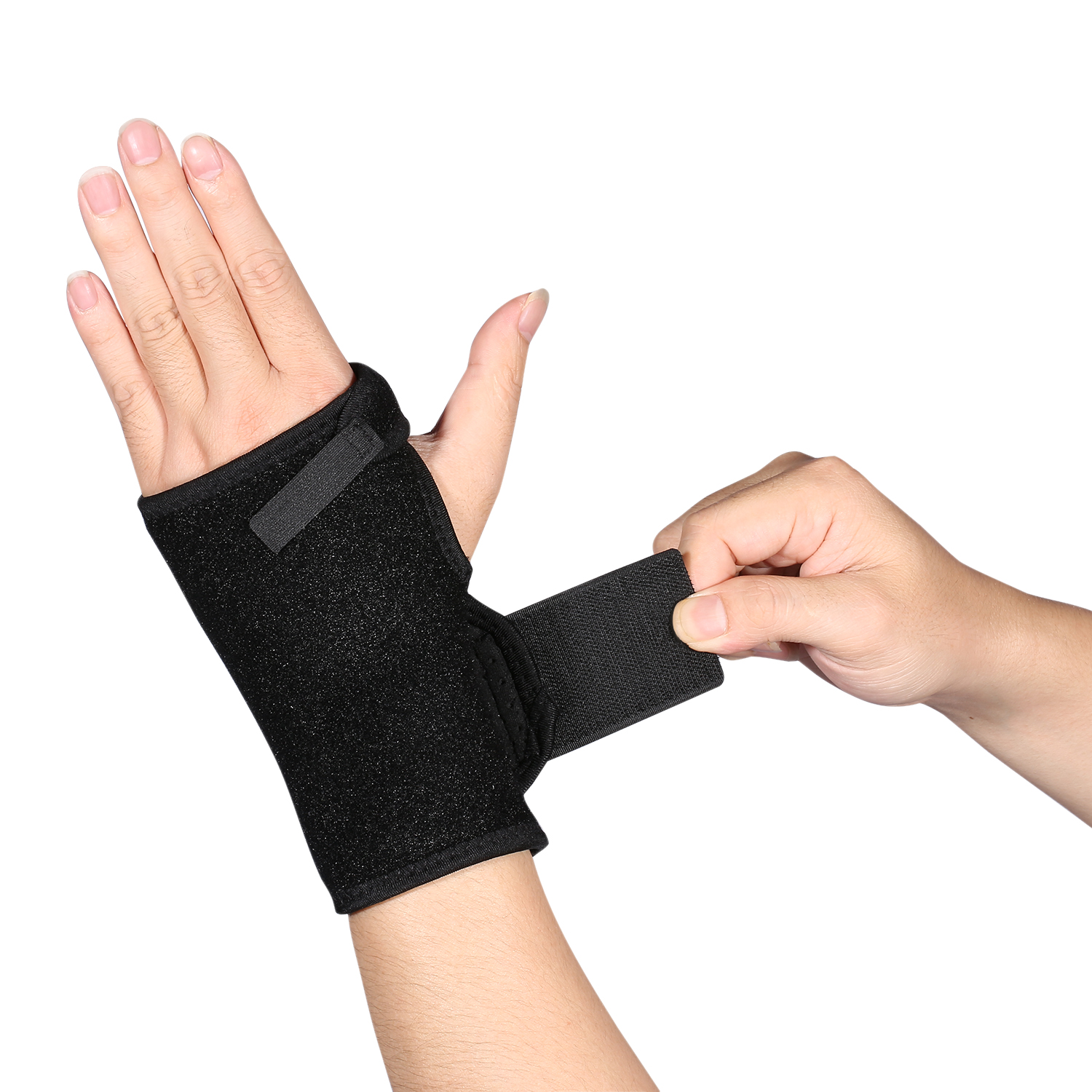 Wrist Brace Splint Support Right Hand Carpal Syndrome Support Recovery Black