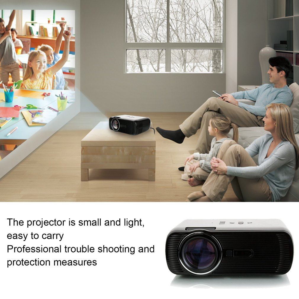 Manual Focus Digital LED Projector 2300lm HD 3D Projector Home Cinema Theater
