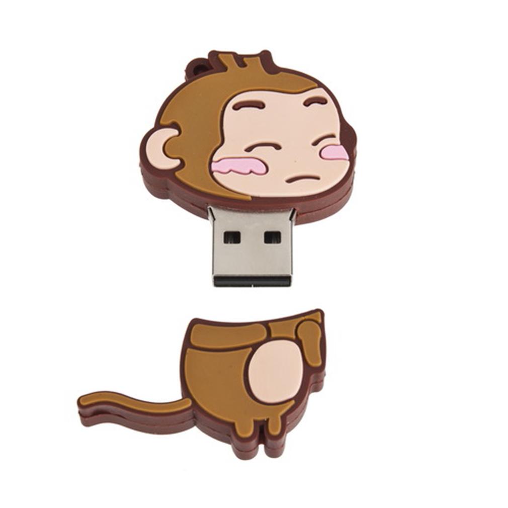 Lovely Monkey Shape 16GB USB Flash Drive Memory Stick