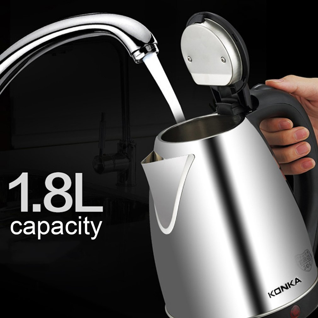 1.8L Stainless Steel Electric Water Kettle Auto-off Quick Electric Boiling Pot