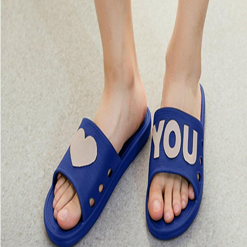 Soft Men Women Slippers Summer Non-slip Indoor Outdoor Couple Slippers Household Bathroom Slippers Love Heart Slippers