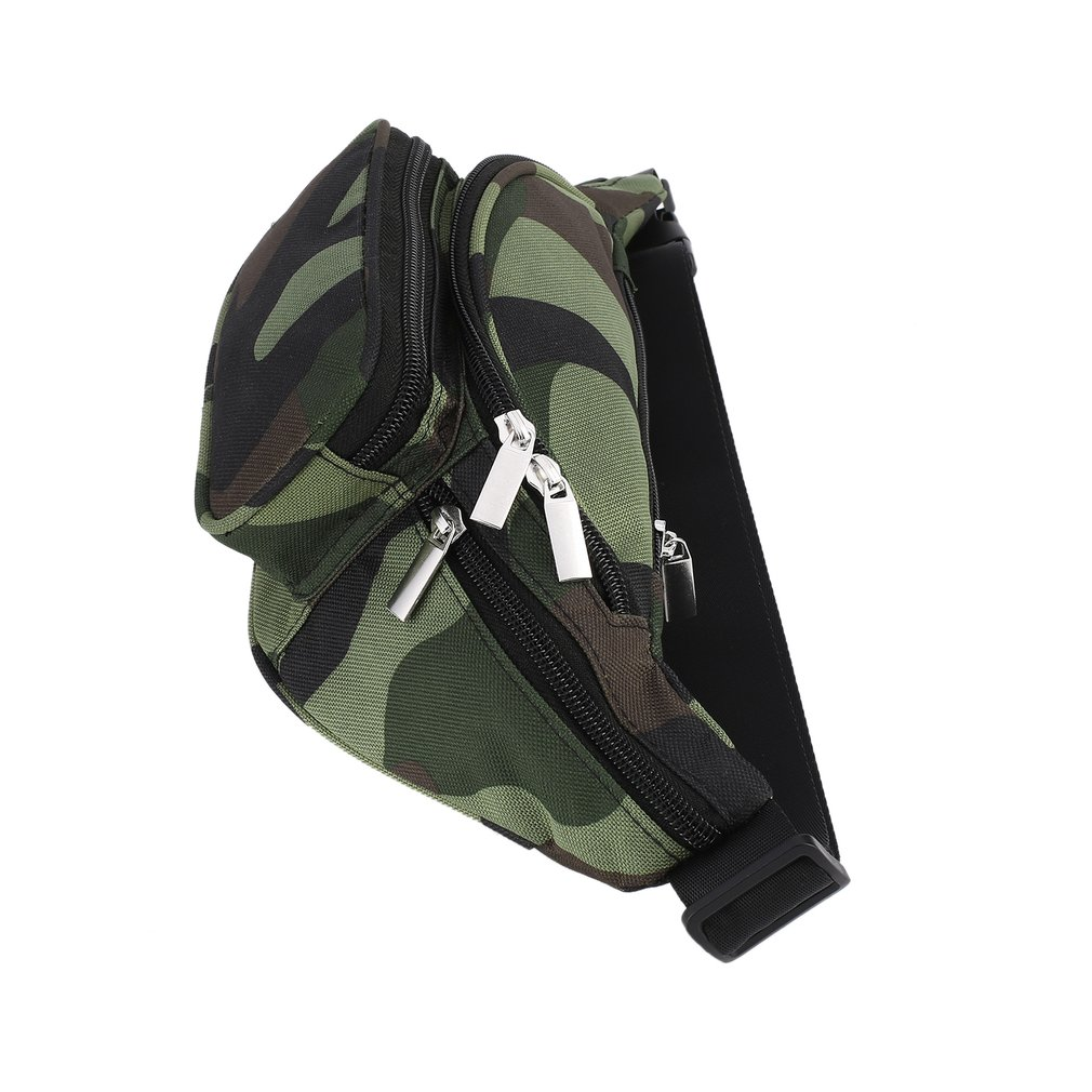 Fanny Pack Traveling Hiking Money Passport Storage Multi Pockets Zipper Bag