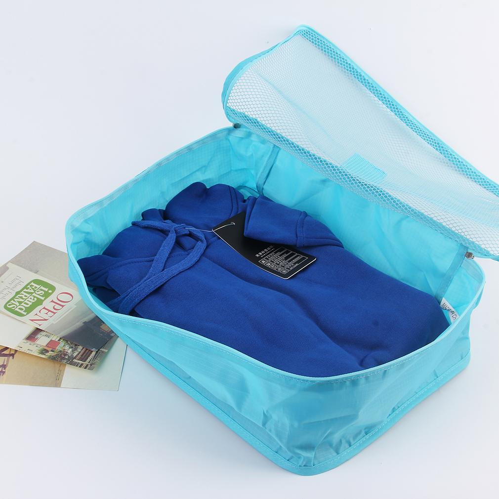 6pcs/Set Waterproof Travel Baggage Sorting Clothing Tidy Bag Organizer Case