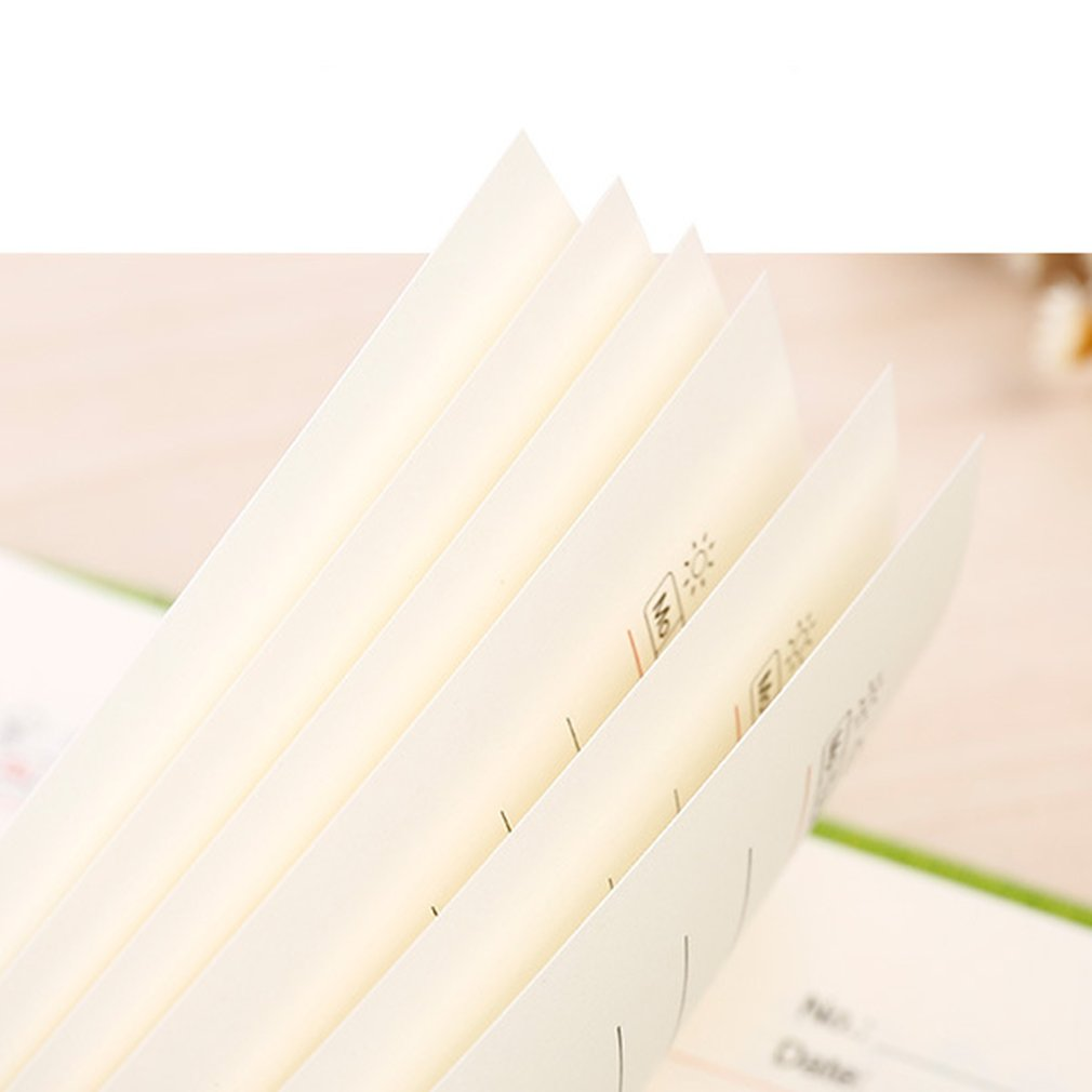 Simple Design Students Personal Diary Journal Notebook Time Weekly Planner Notepad Notebook School Office Stationery