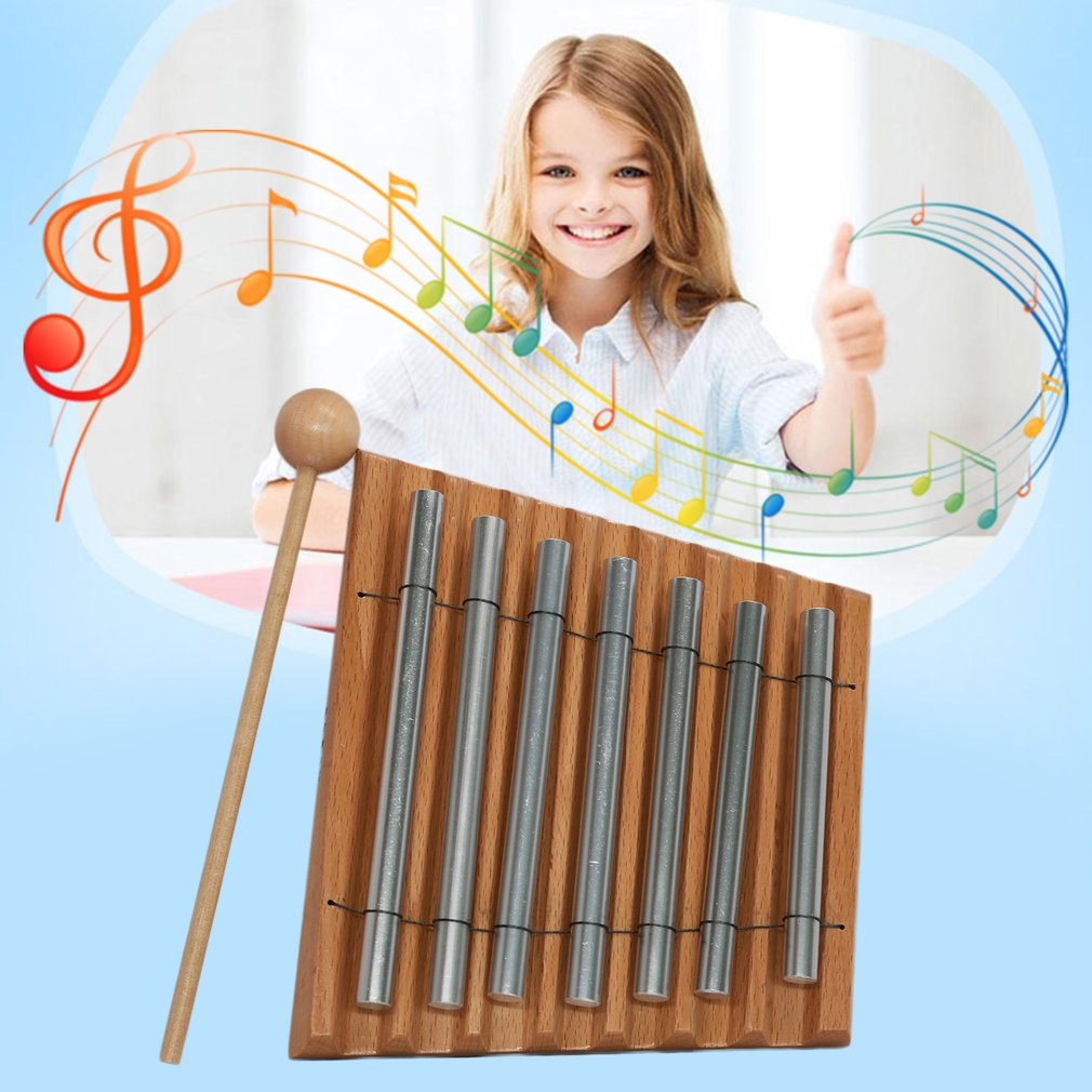 Seven Tone Percussion Instrument Orff World Children Musical Toy With Mallet