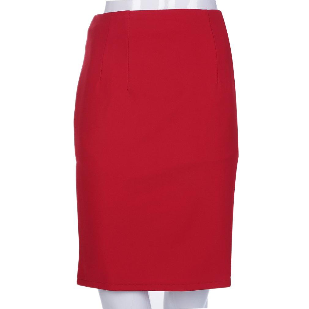 Women's Fashion Slim Retro Casual High Waist Office Lady Pencil Skirt M/L