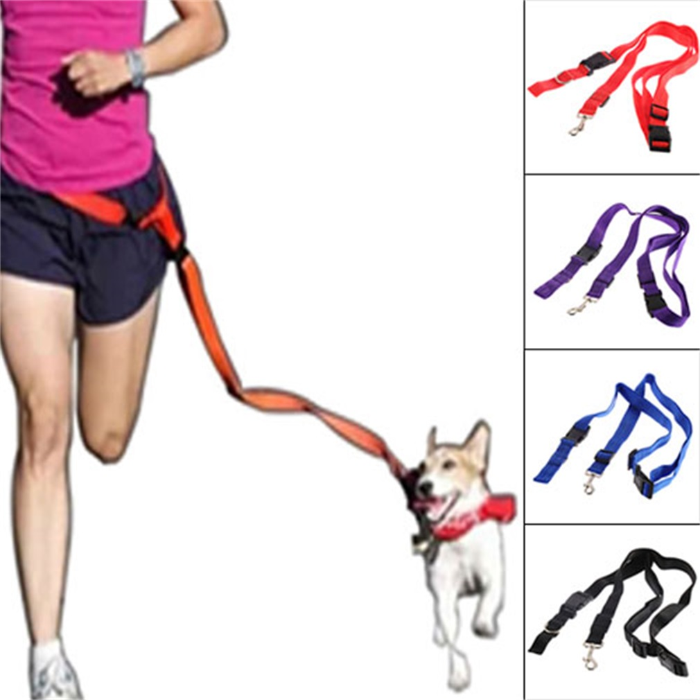 Nylon Running Traction Rope Pet Dog Leash Rope Adjustable Traction Collar Rope