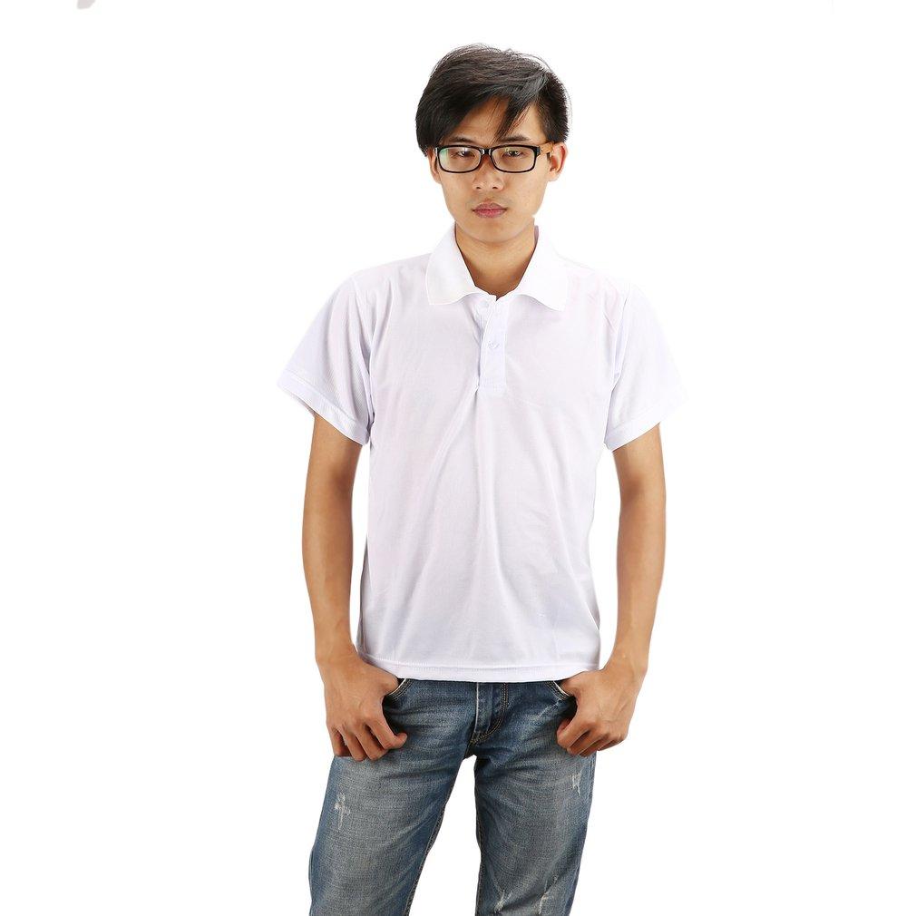 Summer Men's T-shirts Solid Color Culture Shirts Short Advertising Shirts