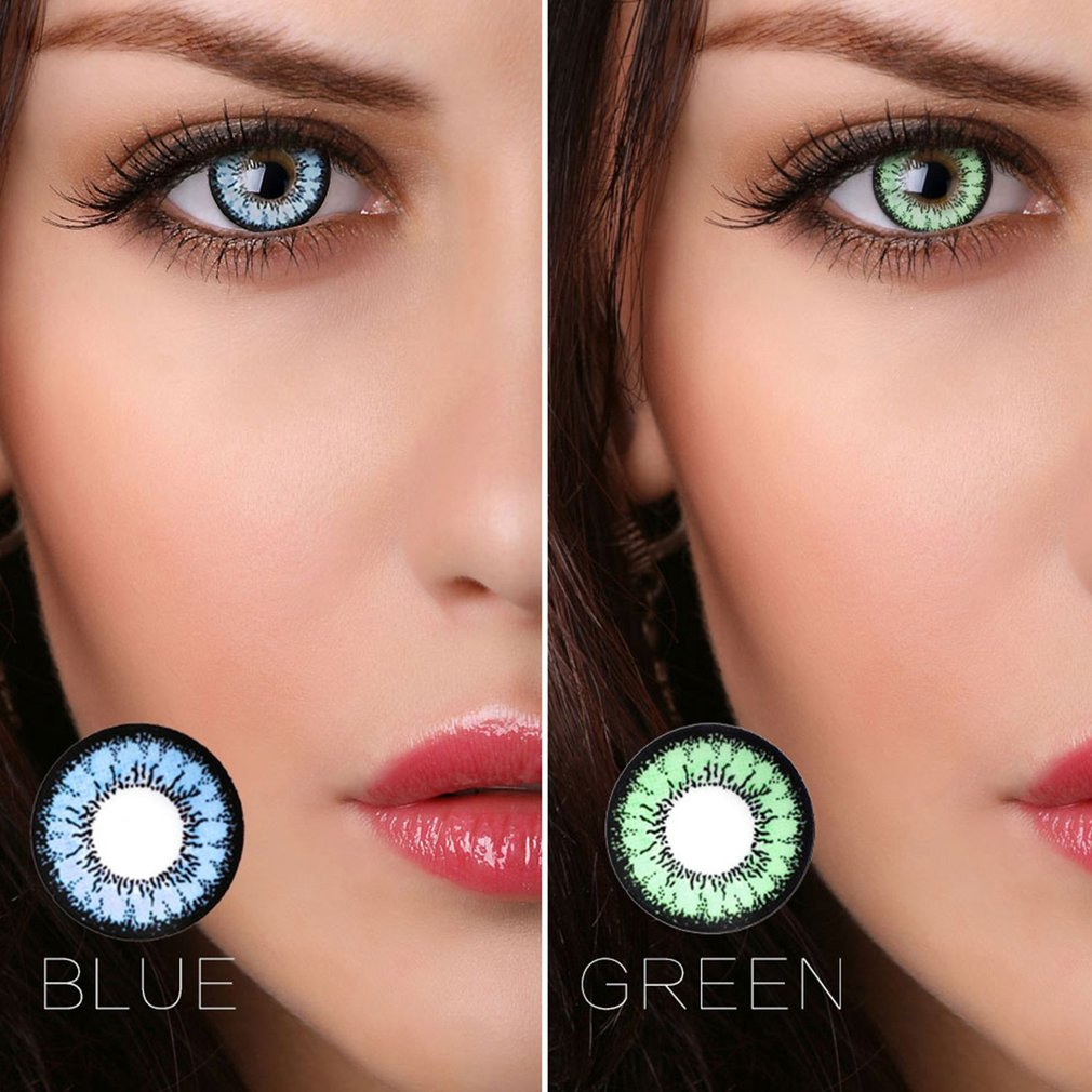 One Pair/set Charming Coloured Cosmetic Contact Lenses Beautiful Eye Wear