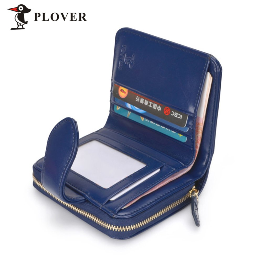 PLOVER GD5914-7NL Women Leather Wallet Clutch Coin Card Holder With Zipper