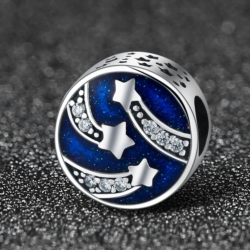 Shining Stars Shaped Women Jewelry S925 Sterling Sliver Pendant Ornaments