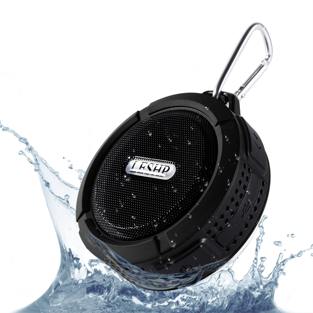 LESHP C6  Wireless Bluetooth Speaker With Calls Handsfree and Suction Cup
